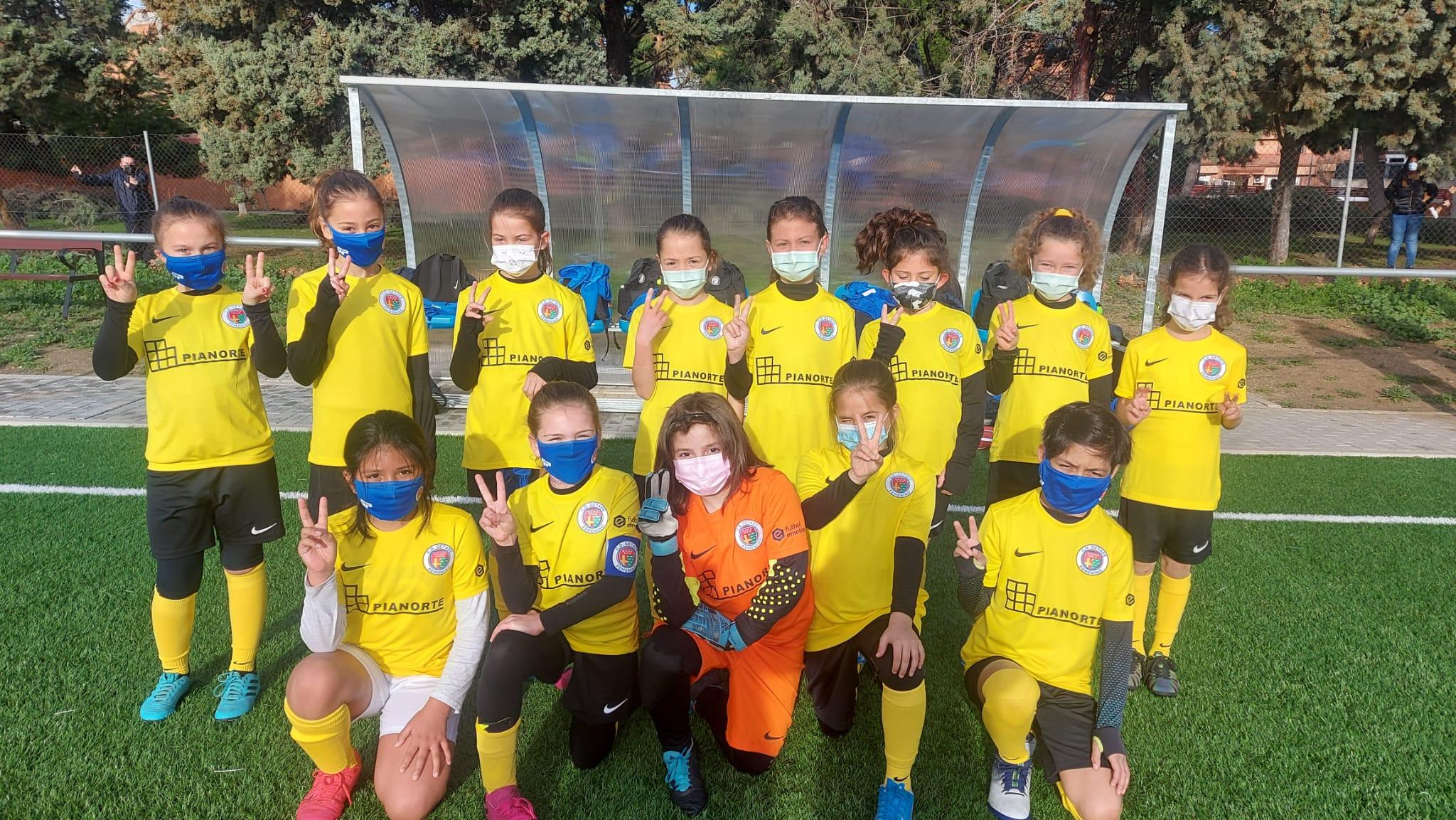 Jugadora Escuela Fútbol Getafe Femenino. Benjamín
