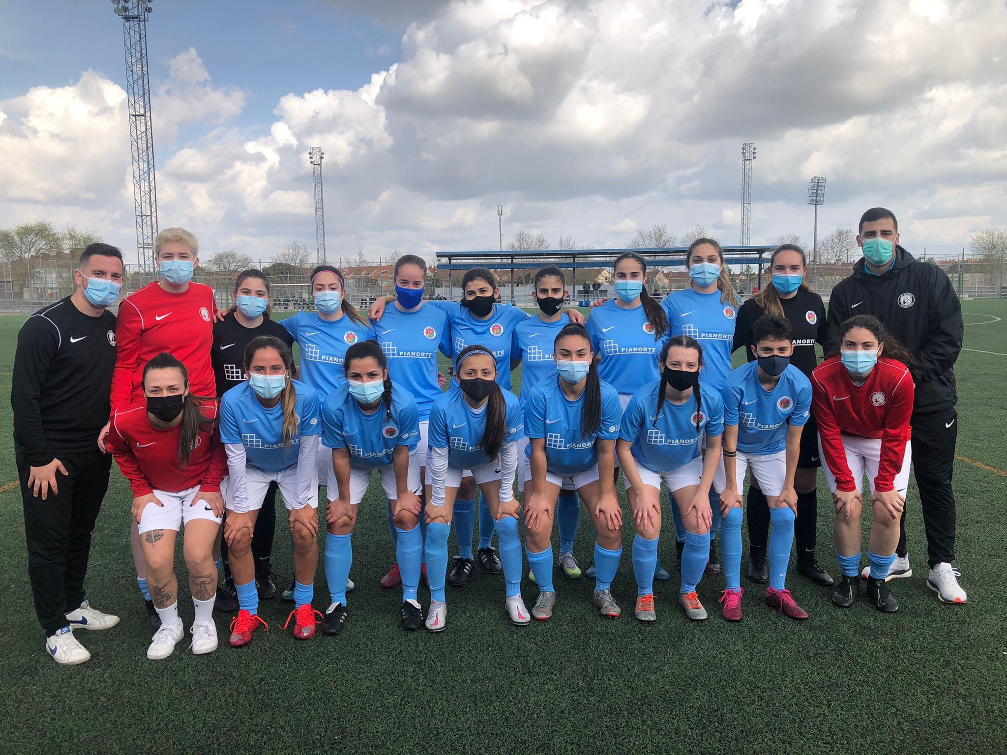 Jugadoras Senior B Escuela de Fútbol Getafe Femenino